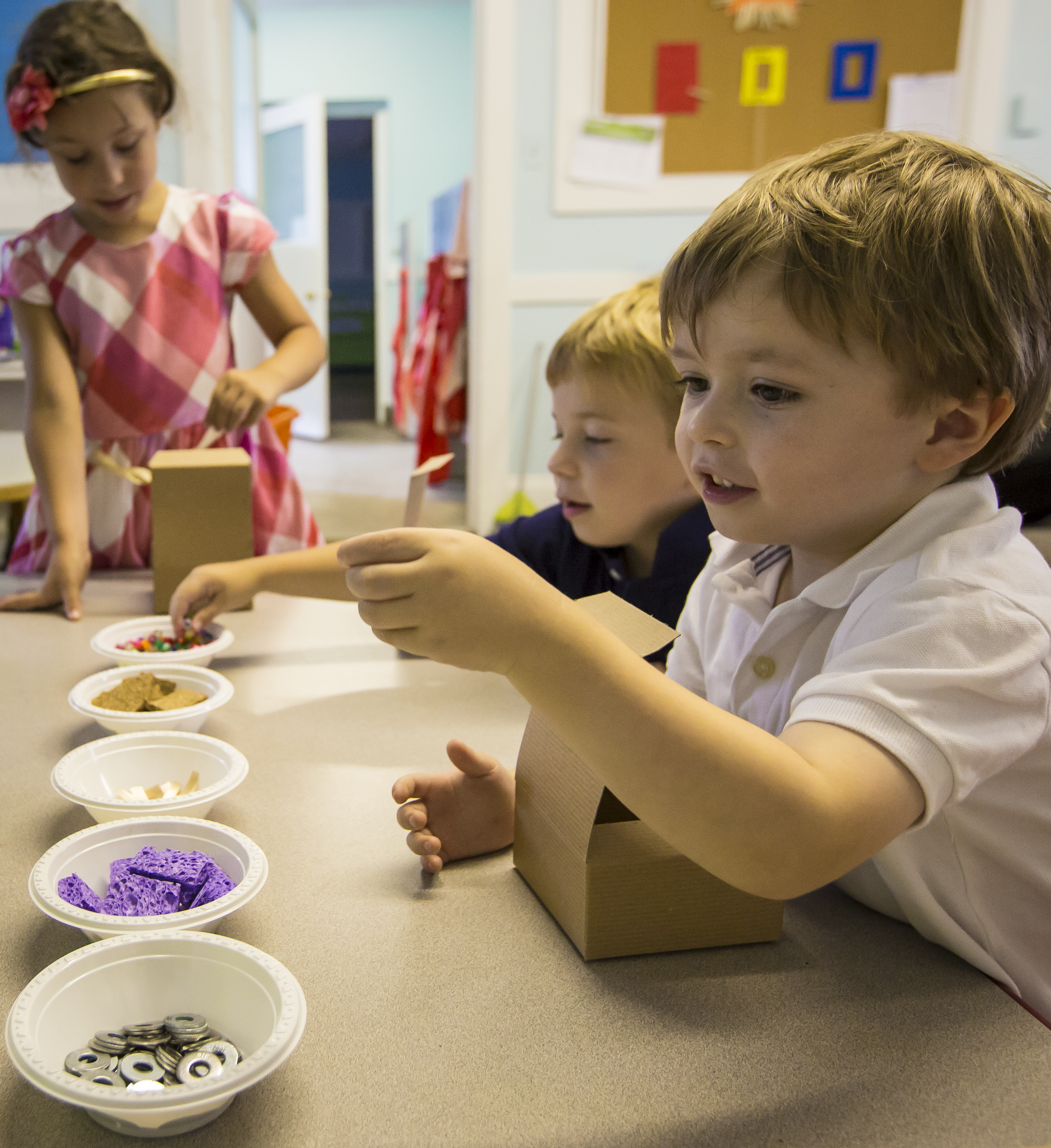 prek students hands-on learning