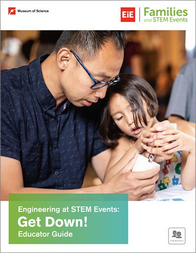 Got Down! Educator Cover decorativye image: father and child doing a hands-on STEM activity
